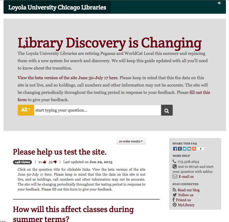 Loyola University Chicago Libraries