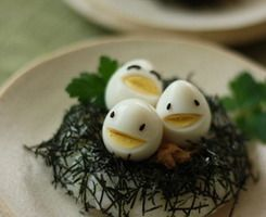 cute easy way to make boiled eggs fun