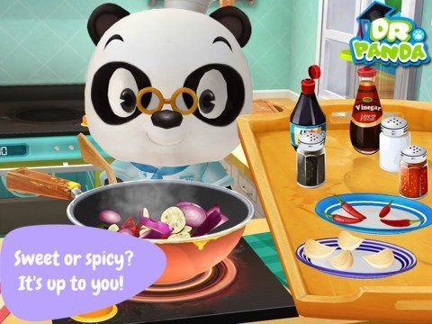 Kids can take charge in their own kitchen in Dr. Panda's Restaurant 2
