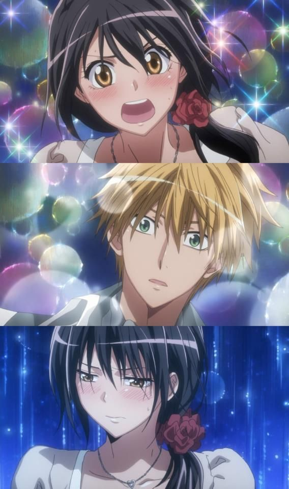 When Misaki confessed about how he made her feel and Usui-for the first time ever, was in complete shock. So kawaii Kaichou wa Maid-sama