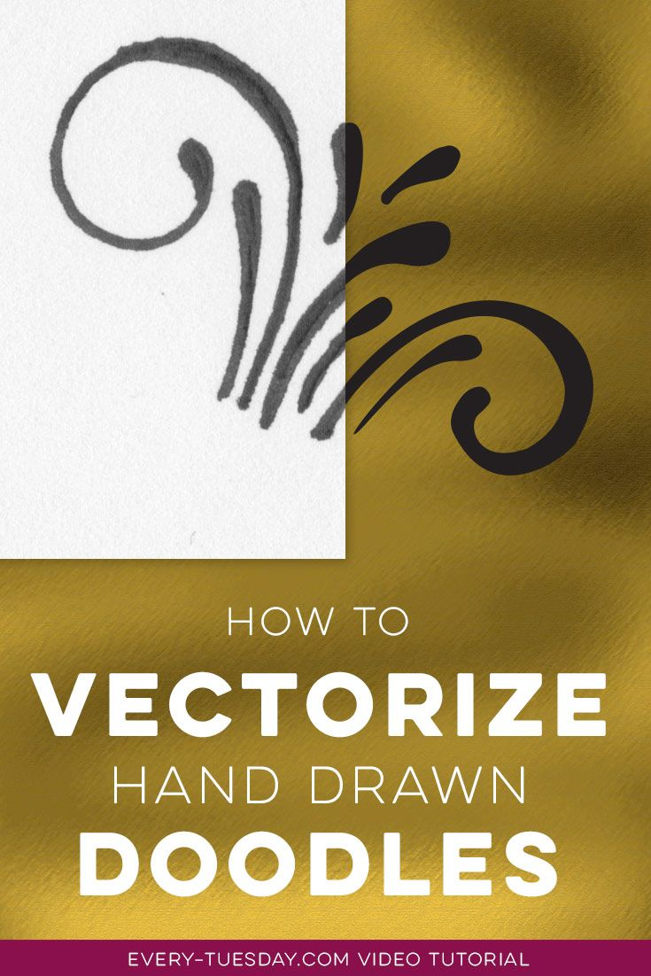 3 methods for vectorizing hand drawn doodles in Illustrator, no matter what your skill level! http://every-tuesday.com/how-to-vectorize-hand-drawn-doodles/