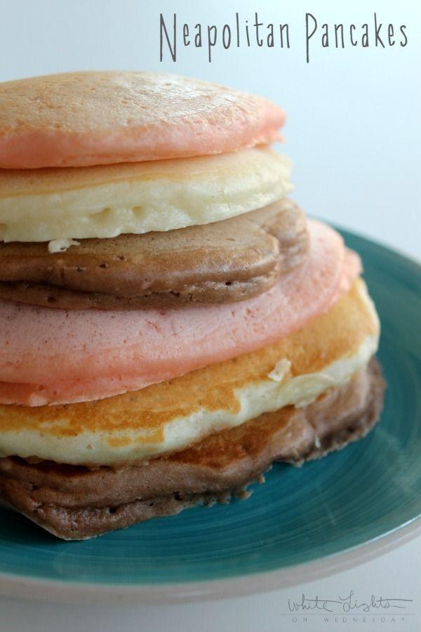 Neapolitan Pancakes    White Lights on Wednesday #TruMoo #ad