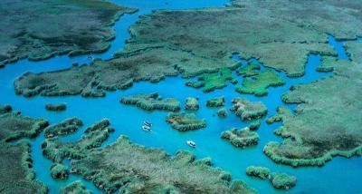 Aerial view of the Dalyan River delta (taken 2012)