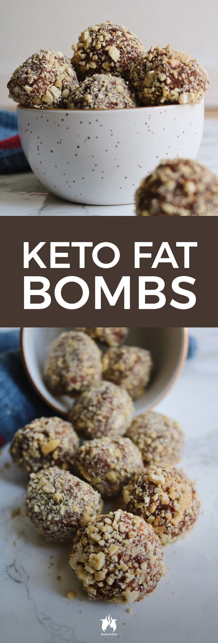 With a truffle-like texture and perfect amount of crunch, these keto fat bombs will help you meet the daily fat requirements needed to stay in ketosis.