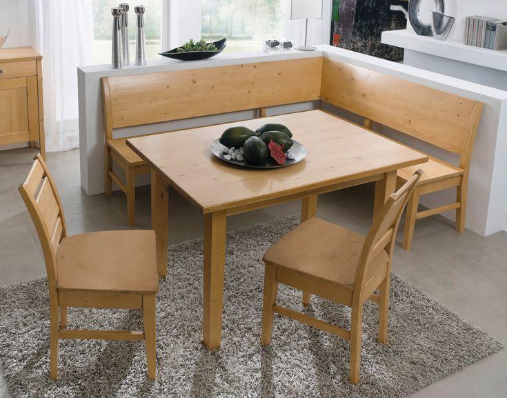 Eckbankgruppe Messina, Kernbuche, Bank 190/150 cm, Tisch 85/125cm, 2 ...
