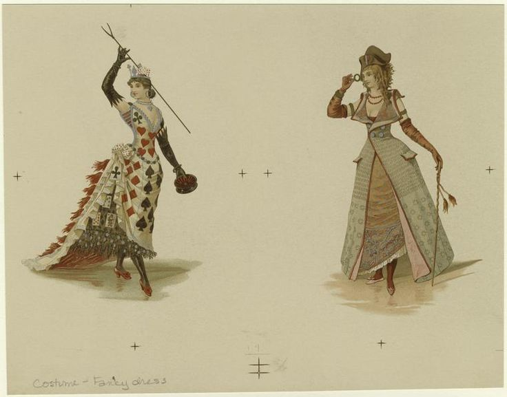 Victorian Fancy Dress Costumes  - from digitalgallery.nypl.org