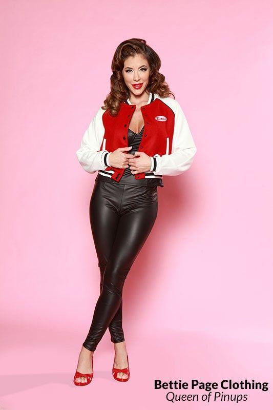 Bettie Letterman's Jacket (red) by Bettie Page