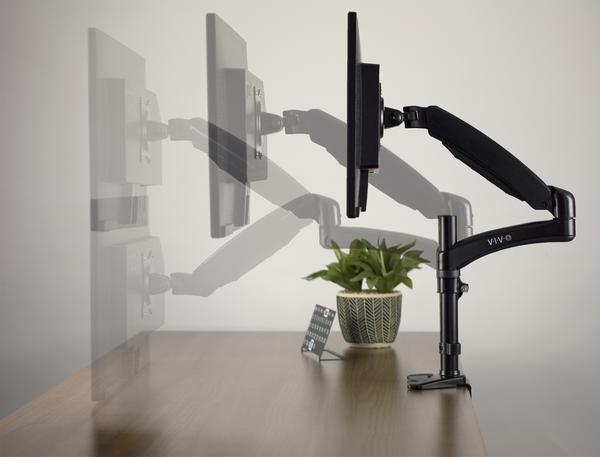 Stand V001jbpneumatic Arm Single Monitor Desk Mount