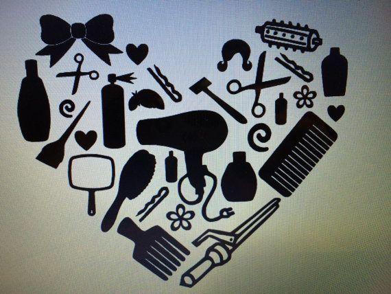 Hairdresser Vinyl Heart Decal Great Gift By Designsbykmj