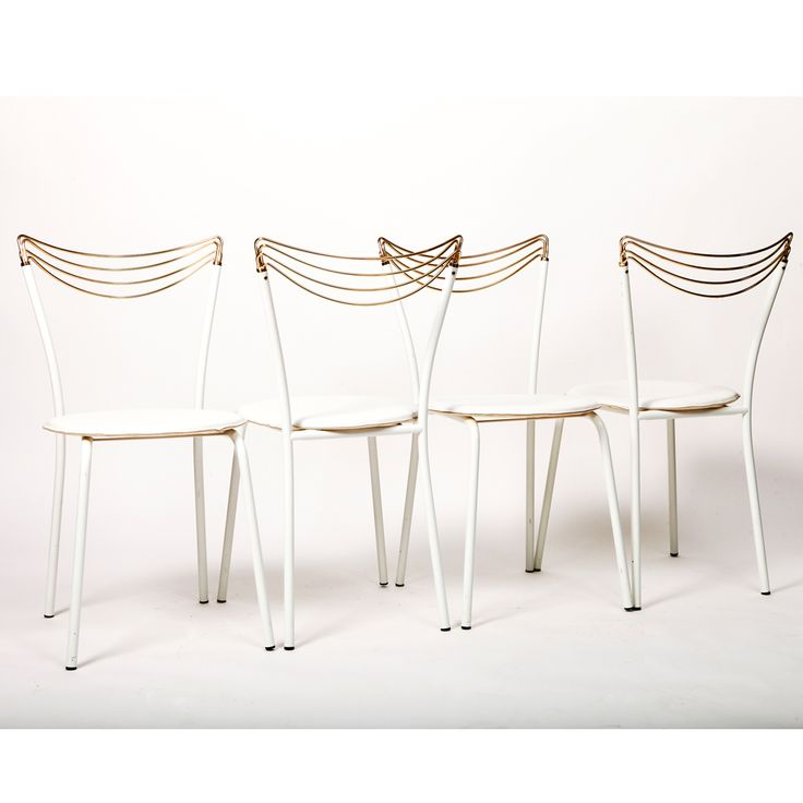 Unknown designer and producer ITALY, 1971-1979  Set of four fabulous filigree chairs made in Italy in the 1970s.  SIZE Width: 34 cm Height: 78 cm  STOCK 1 Available