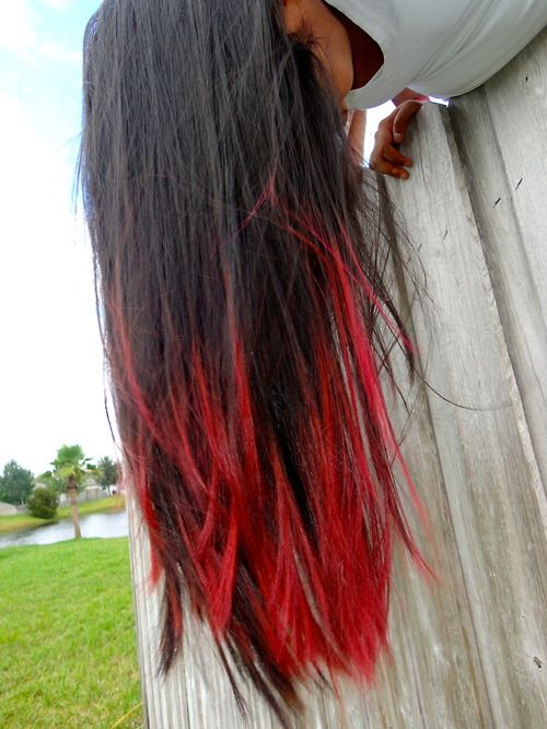 Red Hair With Black Dip Dye | www.pixshark.com - Images ...