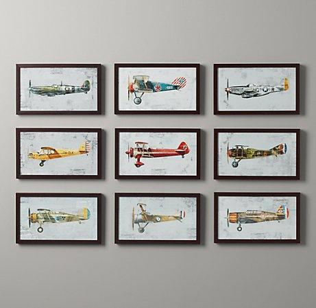 vintage airplane art.
