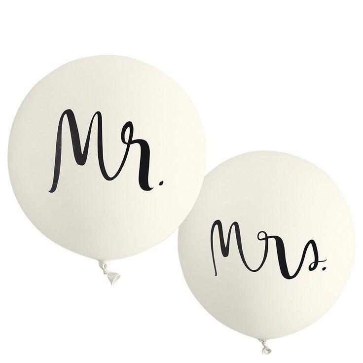 Mr And Mrs Bridal Balloons Set