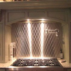 Stainless Steel Diamond Back Splash By Stainless Living