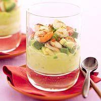 Recept - Sint-jakobsschelpen op avocadomousse - Allerhande