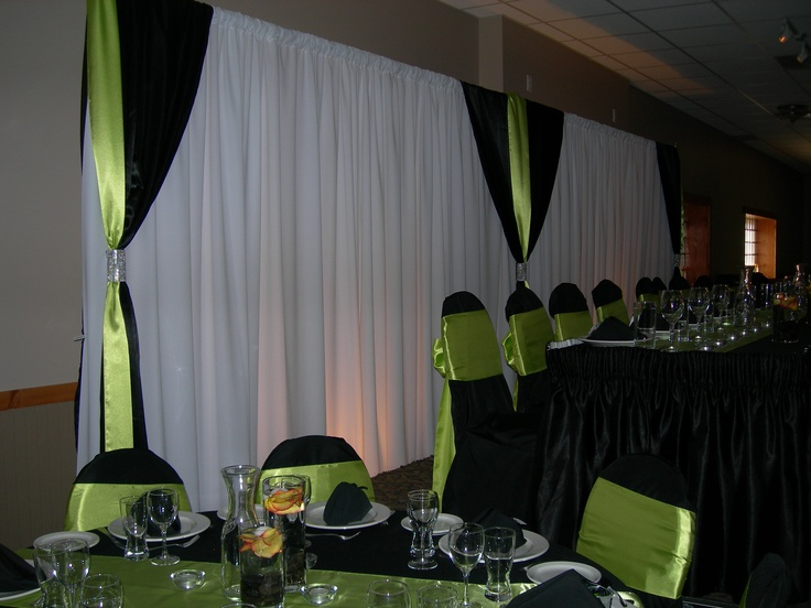 Aglow Weddings Amp Events Backdrop In White Voile With Black