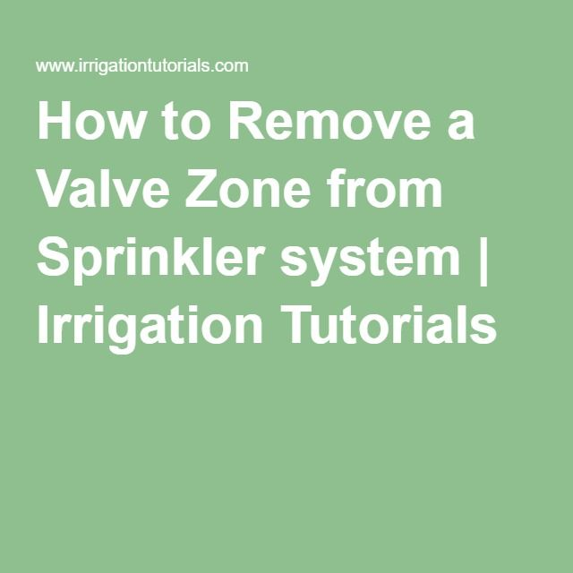 How to Remove a Valve Zone from Sprinkler system | Irrigation Tutorials