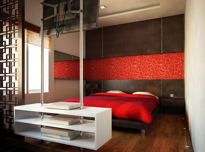 Red And White Bedroom Decorating Ideas Picture 2018