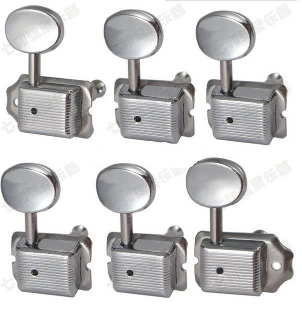 6PCS/set 6R Chrome Silver vintage Tuner Electric guitar strings button Tuning Pegs Keys Machine Heads Guitar Parts