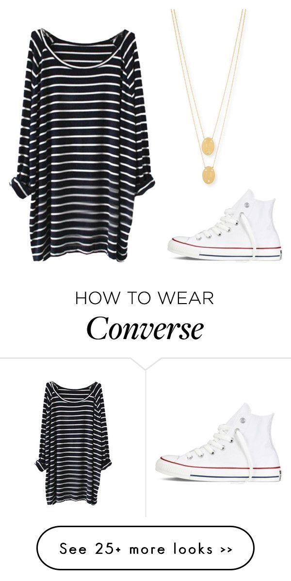 """Untitled #109"" by tsmxth on Polyvore featuring Converse and Jennifer Zeuner"