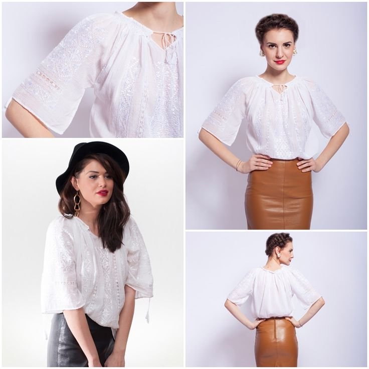 Delicate, extremely elegant<3 #handemroidery #romanianblouse