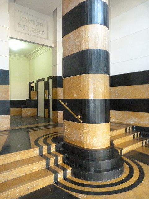 #Art Deco interior! Edificio Petronio, Copacabana by dct66 on Flickr. Via Flickr: Edificio Petronio, Copacabana
