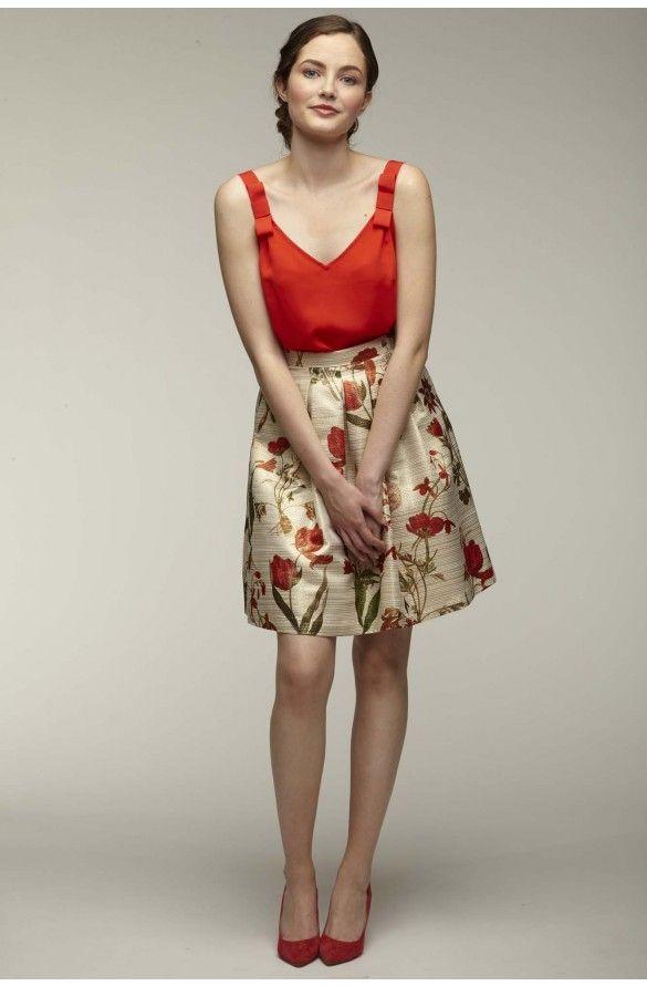 6092b0765057ad Jupe corolle fantaisie - jupes femme - naf naf 1 | Idées Robes Femme ...