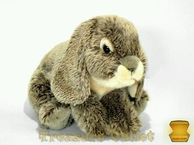 Toys R Us Stuffed Plush Lop Eared Brown Bunny Rabbit 10in Easter Animal