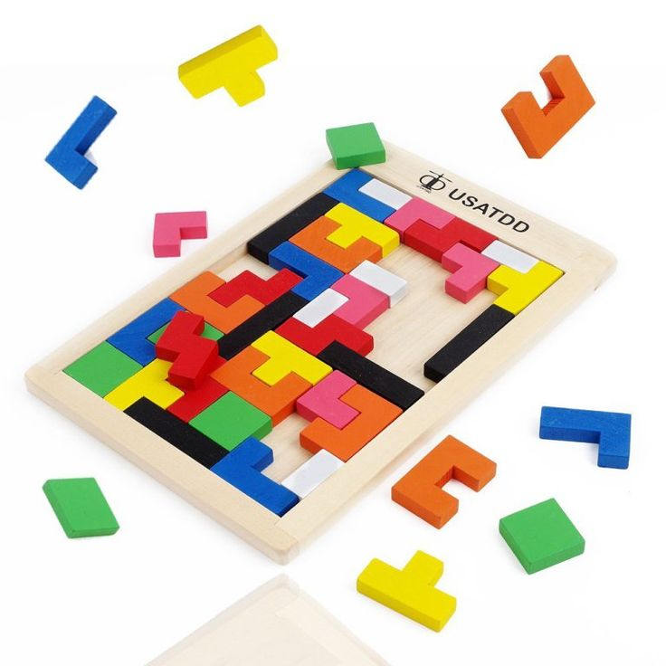 Birthday Gift Toy for Age 3 4 5 Years Old and Up Kid Children Baby Toddler Boy Girl USATDD Wooden Educational Preschool Shape Color Recognition Geometric Board Block Stack Sort Chunky Puzzle Toys