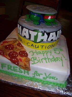 Plumeria Cake Studio: Teenage Mutant Ninja Turtles Birthday Cake