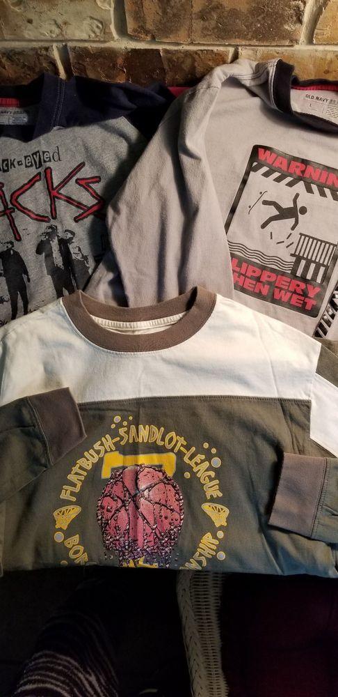 8b70e7fb84d159 3 Boy s Old Navy Long Sleeve Printed T-Shirts Size L  fashion  clothing   shoes  accessories  kidsclothingshoesaccs  boysclothingsizes4up (ebay link)