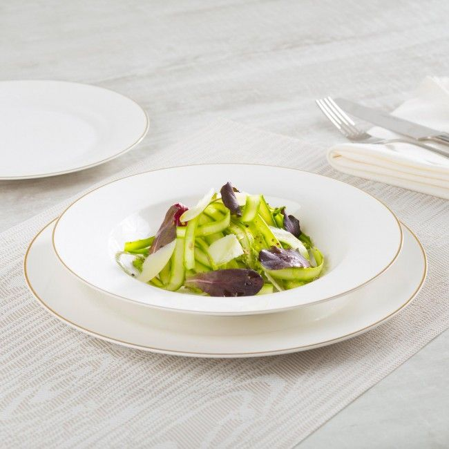 Our Moments Bone China set is an elegant, light weight option for your dinning room. The bone ash infused ceramic makes it more durable that traditional porcelain. It has place settings for 4 and is dishwasher safe.