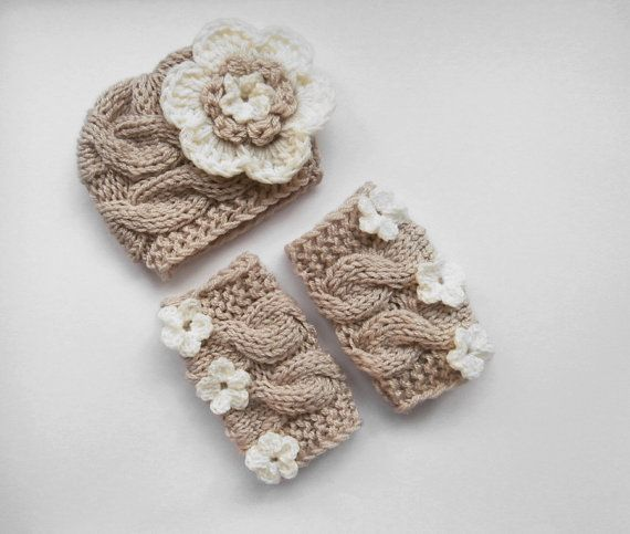 SET Baby Girl Hat and Leg Warmers-Newborn Baby Girl -Photography Photo Prop Set -Newborn Leg Warmers and Hat on Etsy, $29.50