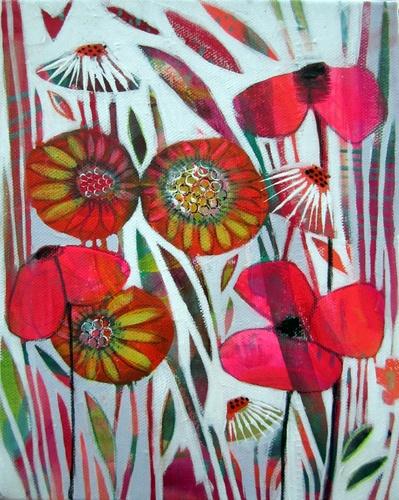 'Winter Poppy'  Acrylic on canvas