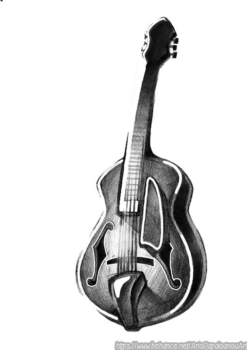 Guitar ( Newschool-graffiti Sketch )
