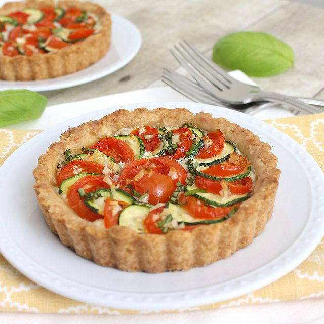 Zucchini, Tomato and Ricotta Tarts by Tracey's Culinary Adventures ...