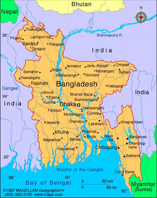 32 best world capitals images on pinterest countries maps and map of bangladesh capital dhaka principal languages bangla official english gumiabroncs Image collections