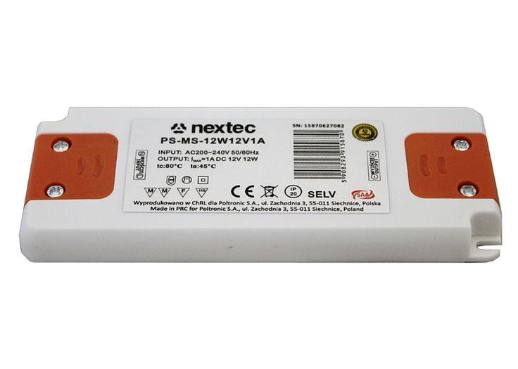 Nextec LED Trafo 12W Treiber Montagenetzteil extra flach slim