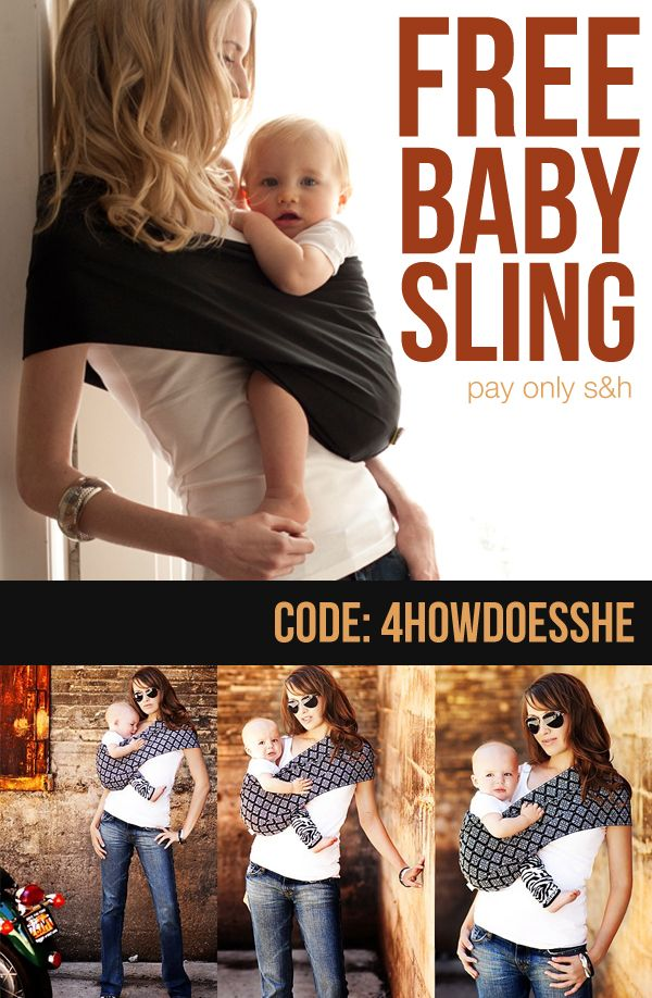 FREE Baby Sling! Love how comfortable and customization these are! They make AWESOME baby shower gifts! More information at HowDoesShe.com