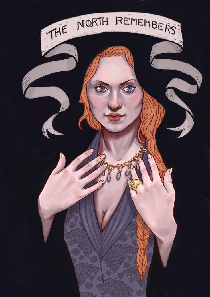 Sansa Stark after Joffrey dies.