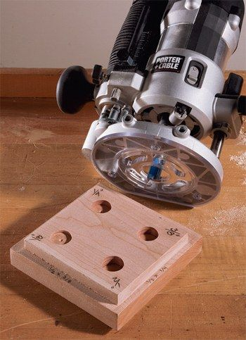 Router Tips - Shop Made Depth Gauge Router Jig for Making Quick Cuts