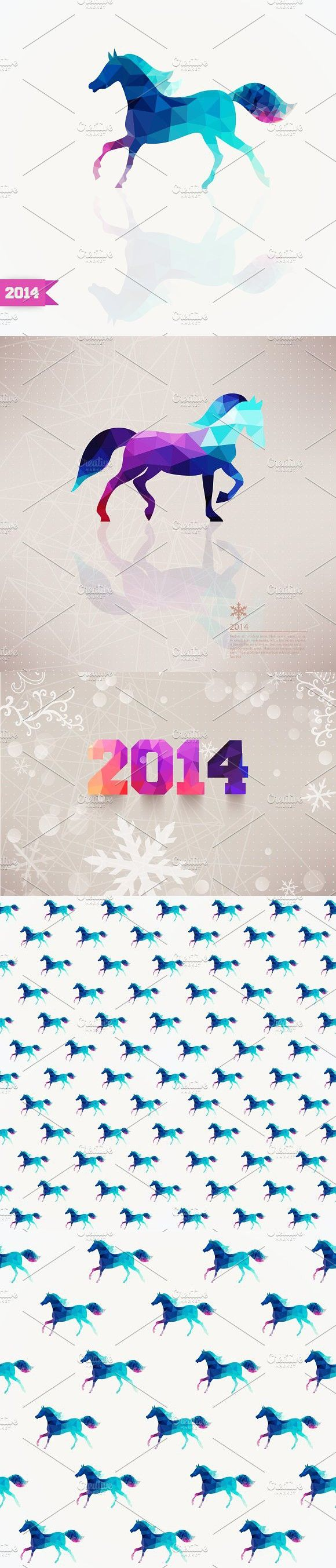 Year of the Horse 2014. Patterns. $5.00