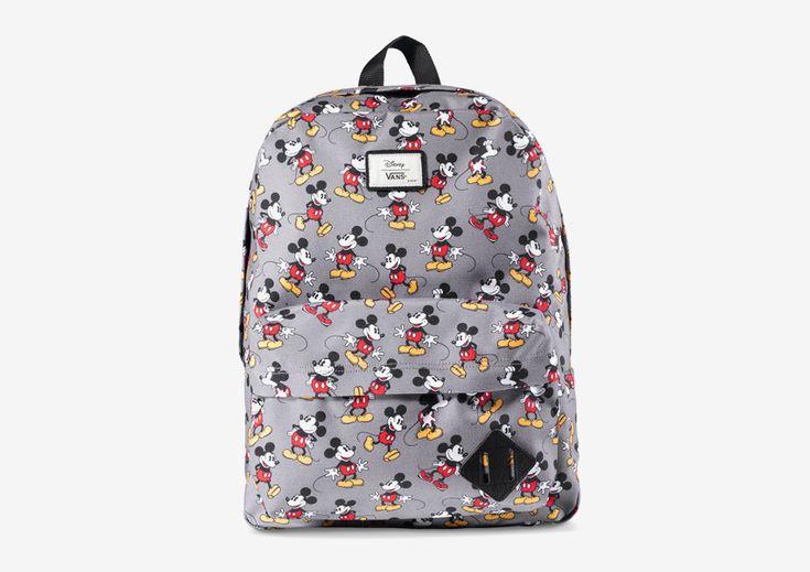 Vans x Disney – šedý batoh s Mickey Mousem  #vans #disney #youngatheart #backpack #grey #mickey #mouse