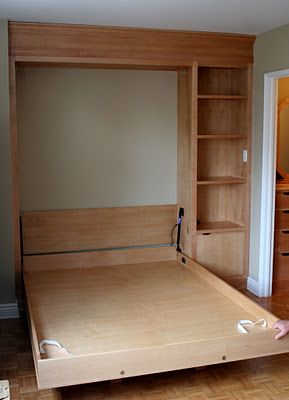 DIY Murphy bed. This would have been awesome when we were still in the apartment!