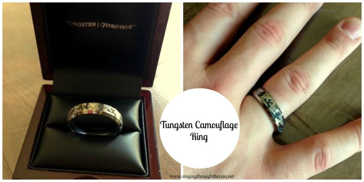 Tungsten Camouflage Ring for Military Men - The PERFECT gift to surprise your military man with! #military