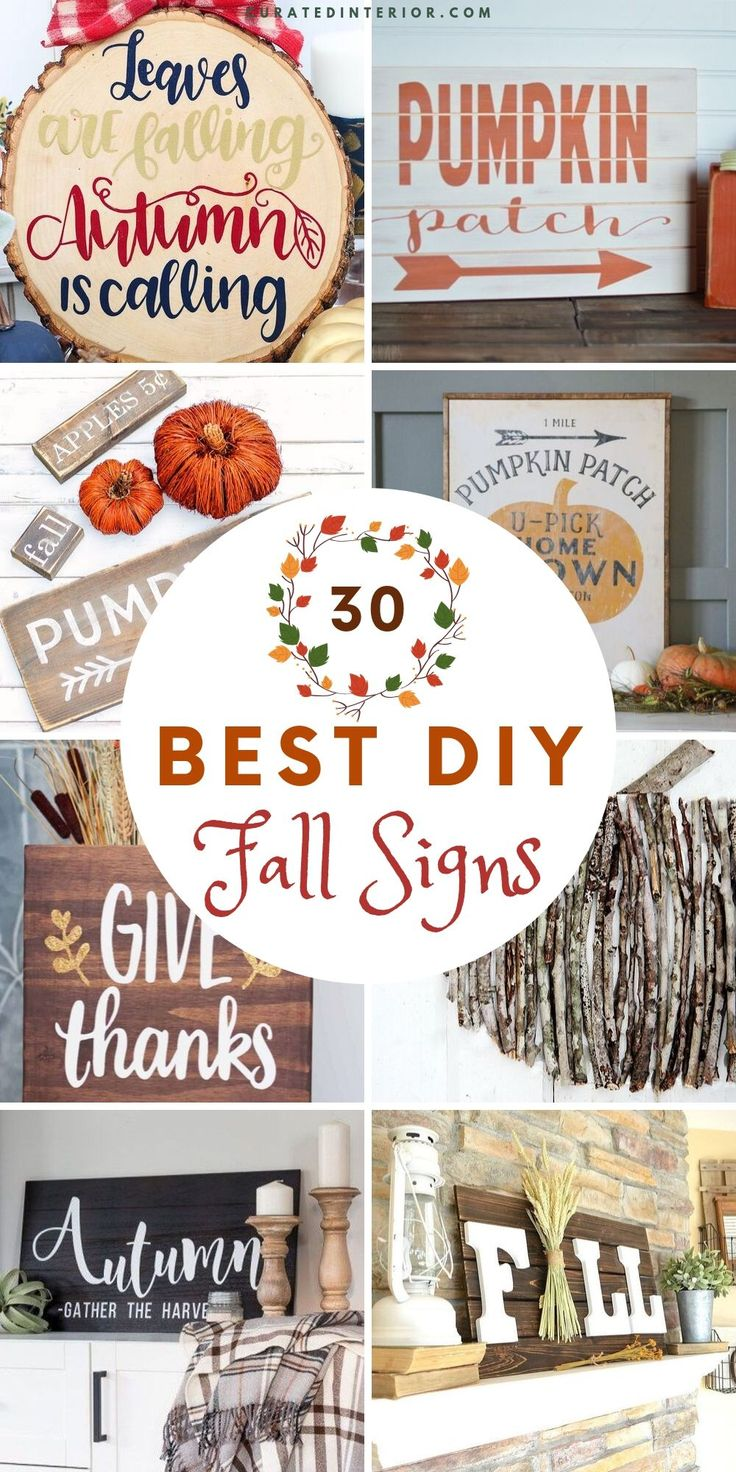 30 Diy Fall Signs For The Home Diy Fall Fall Home Decor Pumpkin Sign Wooden