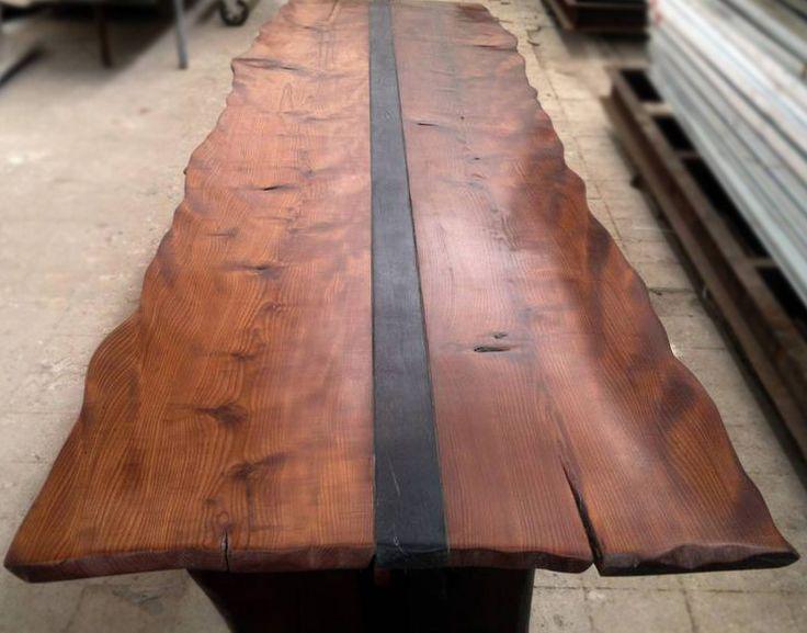 Эксклюзивный стол из цельного массива, дерево, дерево в интерьере, массив,  изделия из