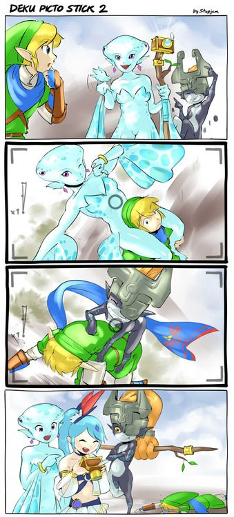 Hyrule Warriors. This is definitely what would happen if selfie sticks existed in The Legend of Zelda