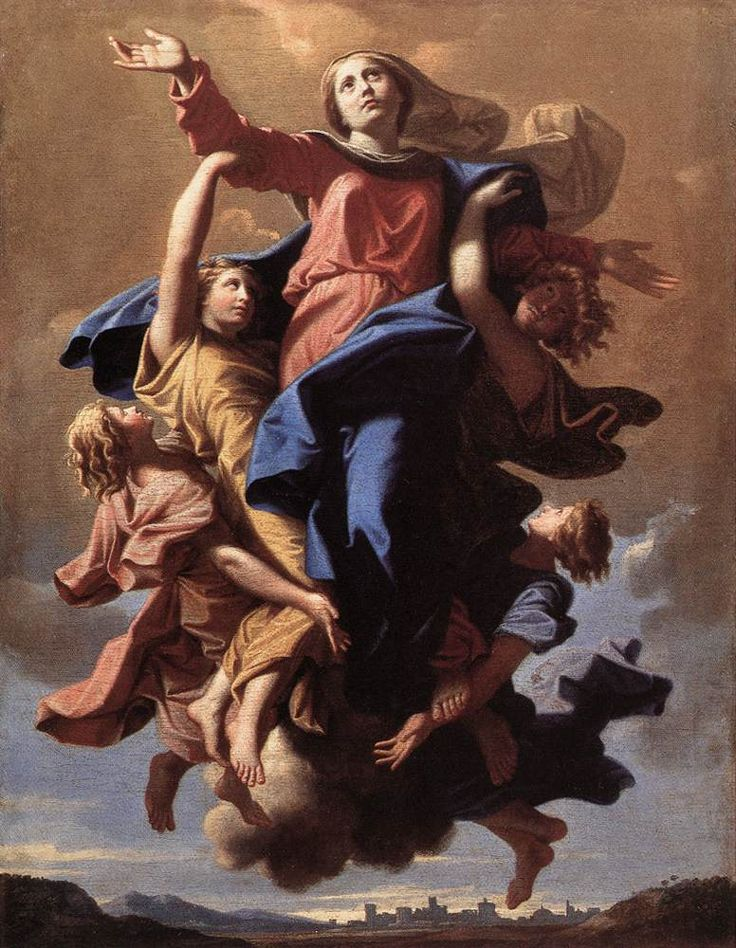 Nicolas Poussin (1594-1665) The Assumption of the Virgin (Thx Mary)