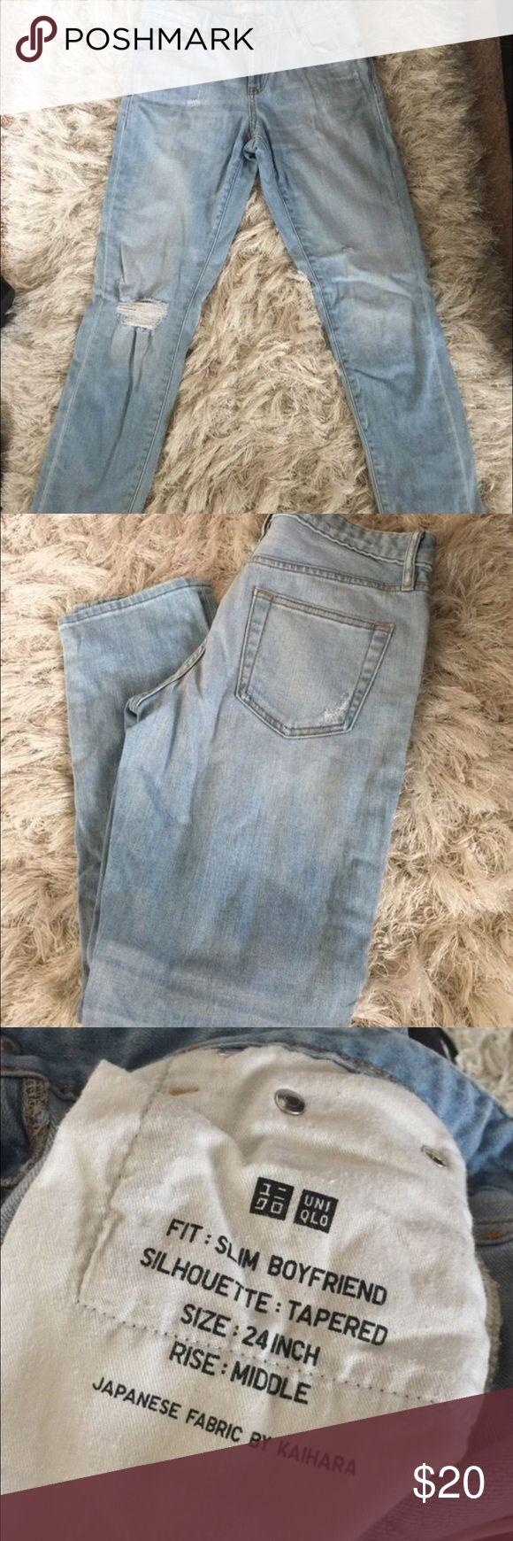Women's uniqlo boyfriend jeans Pre-owned. Excellent condition. Uniqlo Jeans Ankle & Cropped